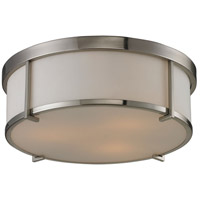 ELK Lighting Signature 3 Light Flush Mount in Brushed Nickel 11465/3