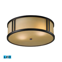 ELK Lighting Signature 2 Light Flush Mount in Aged Bronze 11476/2-LED