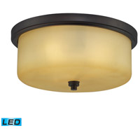 Signature LED 13 inch Aged Bronze Flush Mount Ceiling Light