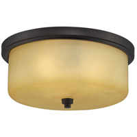 Signature 3 Light 13 inch Aged Bronze Flush Mount Ceiling Light
