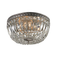 Signature 4 Light 15 inch Sunset Silver Flush Mount Ceiling Light
