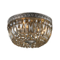 ELK Lighting Signature 3 Light Flush Mount in Sunset Silver 11490/3