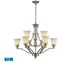 ELK Lighting Sullivan 9 Light Chandelier in Brushed Nickel 11504/6+3-LED