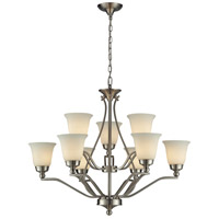 ELK Lighting Sullivan 9 Light Chandelier in Brushed Nickel 11504/6+3