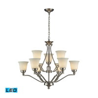 ELK 11504/6+3-LED Sullivan LED 33 inch Brushed Nickel Chandelier Ceiling Light
