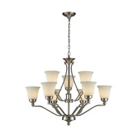 ELK 11504/6+3 Sullivan 9 Light 33 inch Brushed Nickel Chandelier Ceiling Light