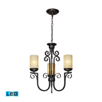 ELK Lighting Avondale 3 Light Chandelier in Aged Bronze 11511/3-LED