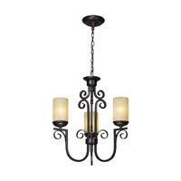 Avondale 3 Light 22 inch Aged Bronze Chandelier Ceiling Light