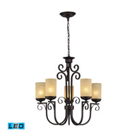 ELK Lighting Avondale 5 Light Chandelier in Aged Bronze 11512/5-LED