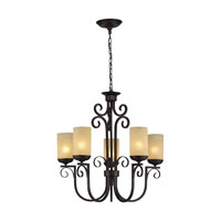 ELK Lighting Avondale 5 Light Chandelier in Aged Bronze 11512/5