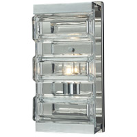 ELK 11515/1 Corrugated Glass 1 Light 5 inch Polished Chrome Vanity Light Wall Light