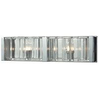 ELK Lighting Corrugated Glass 2 Light Vanity in Polished Chrome with Clear Glass 11516/2