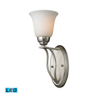 ELK Lighting Malaga 1 Light Wall Sconce in Brushed Nickel 11520/1-LED