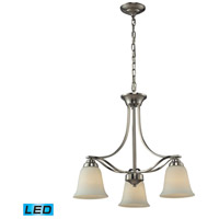 ELK Lighting Malaga 3 Light Chandelier in Brushed Nickel 11522/3-LED
