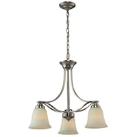 Malaga 3 Light 22 inch Brushed Nickel Chandelier Ceiling Light
