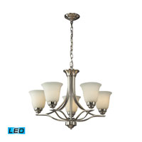 ELK Lighting Malaga 5 Light Chandelier in Brushed Nickel 11523/5-LED