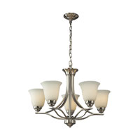 ELK Lighting Malaga 5 Light Chandelier in Brushed Nickel 11523/5