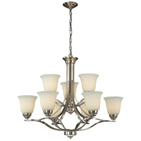 ELK Lighting Malaga 9 Light Chandelier in Brushed Nickel 11524/6+3