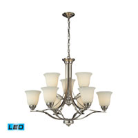 ELK 11524/6+3-LED Malaga LED 32 inch Brushed Nickel Chandelier Ceiling Light