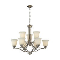 ELK 11524/6+3 Malaga 9 Light 32 inch Brushed Nickel Chandelier Ceiling Light
