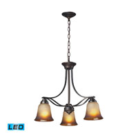 Malaga LED 22 inch Aged Bronze Chandelier Ceiling Light