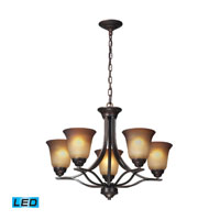 ELK Lighting Malaga 5 Light Chandelier in Aged Bronze 11533/5-LED