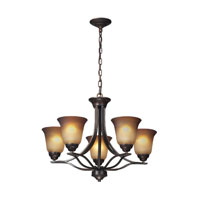 ELK Lighting Malaga 5 Light Chandelier in Aged Bronze 11533/5
