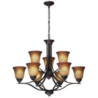 ELK Lighting Malaga 9 Light Chandelier in Aged Bronze 11534/6+3