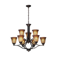 ELK Lighting Malaga 9 Light Chandelier in Aged Bronze 11534/6+3 photo thumbnail