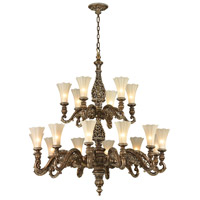ELK Lighting Allesandria 18 Light Chandelier in Burnt Bronze & Weathered Gold Leaf 11542/12+6