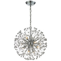 Starburst 9 Light 18 inch Polished Chrome Chandelier Ceiling Light