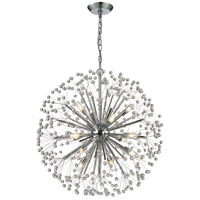 Starburst 16 Light 27 inch Polished Chrome Chandelier Ceiling Light