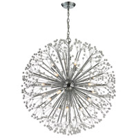 Starburst 19 Light 36 inch Polished Chrome Chandelier Ceiling Light