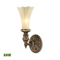 ELK Lighting Allesandria LED Wall Sconce in Burnt Bronze & Weathered Gold Leaf 11550/1-LED