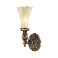 ELK Lighting Allesandria 1 Light Wall Sconce in Burnt Bronze & Weathered Gold Leaf 11550/1