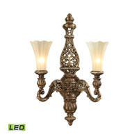 Allesandria LED 18 inch Burnt Bronze & Weathered Gold Leaf Wall Sconce Wall Light