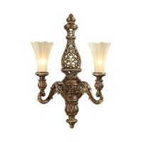 ELK Lighting Allesandria 2 Light Wall Sconce in Burnt Bronze & Weathered Gold Leaf 11551/2