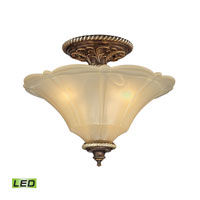 ELK Lighting Allesandria LED Semi-Flush Mount in Burnt Bronze & Weathered Gold Leaf 11553/3-LED