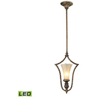 ELK 11554/1-LED Allesandria LED 11 inch Burnt Bronze & Weathered Gold Leaf Pendant Ceiling Light
