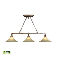 ELK Lighting Allesandria LED Billiard Light in Burnt Bronze & Weathered Gold Leaf 11555/3-LED