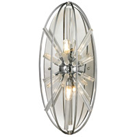 Twilight 2 Light 9 inch Polished Chrome Wall Sconce Wall Light