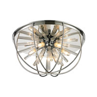 Twilight 6 Light 17 inch Polished Chrome Flush Mount Ceiling Light