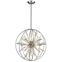 Twilight 10 Light 22 inch Polished Chrome Pendant Ceiling Light