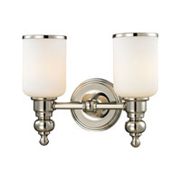 ELK Lighting Bristol 2 Light Bath Bar in Polished Nickel 11571/2