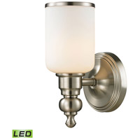 ELK 11580/1-LED Bristol LED 6 inch Brushed Nickel Vanity Light Wall Light