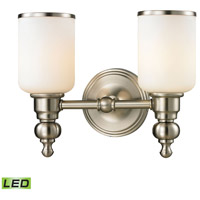 ELK 11581/2-LED Bristol LED 13 inch Brushed Nickel Vanity Light Wall Light