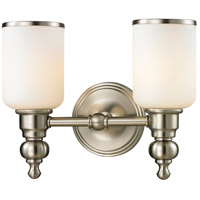 ELK Lighting Bristol 2 Light Bath Bar in Brushed Nickel 11581/2