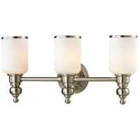 ELK Lighting Bristol 3 Light Bath Bar in Brushed Nickel 11582/3