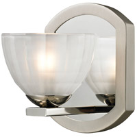ELK 11595/1 Sculptive 1 Light 5 inch Polished Nickel & Matte Nickel Bath Bar Wall Light