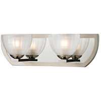 ELK Lighting Sculptive 2 Light Bath Bar in Polished Nickel & Matte Nickel 11596/2